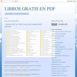 7 BIBLIOTECAS VIRTUALES DE LIBROS PDF GRATIS