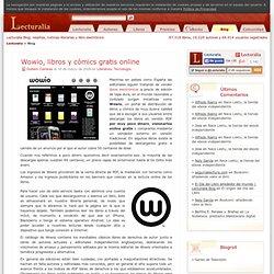Wowio, libros y cómics gratis online