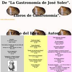 """""""Libros de Gastronomía""""."""