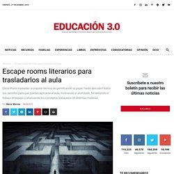 Libros Escape room para trasladarlos al aula