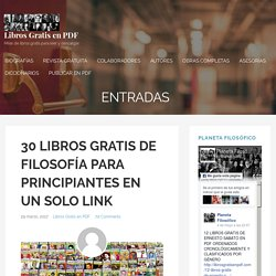 30 LIBROS GRATIS DE FILOSOFÍA PARA PRINCIPIANTES EN UN SOLO LINK – Libros Gratis en PDF