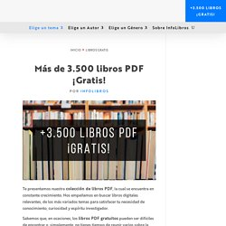 LIBROS POR TEMAS infolibros