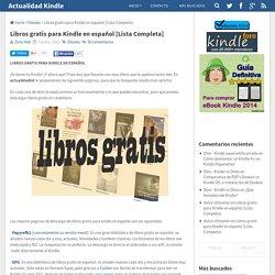 Libros gratis para Kindle en español [Lista Completa]