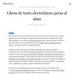 Libros de texto electrónicos: peras al olmo
