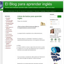 El Blog para aprender inglés: Libros de textos para aprender inglés
