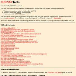 LIBSVM Tools