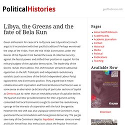 Libya, the Greens and the fate of Bela Kun « Geoff Robinson