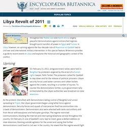 Libya Revolt of 2011