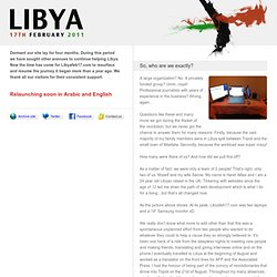 Libya February 17th | Keeping with the events as they happen