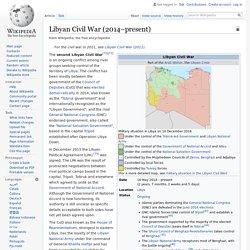 Libyan Civil War (2014–present)