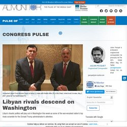 Libyan rivals descend on Washington