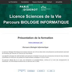 Licence - Bioinformatique