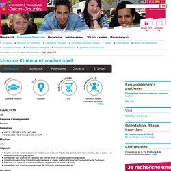 Licence Cinéma et audiovisuel