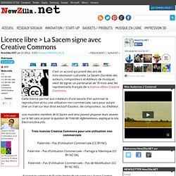 Droit d'auteur > La Sacem signe avec Creative Commons
