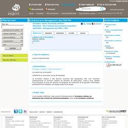 Licence pro Management des PME-PMI