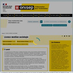 Licence mention sociologie