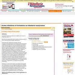 Licence Pro Hôtellerie