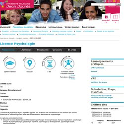 Licence Psychologie
