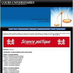 Licence de droit, cours de science politique