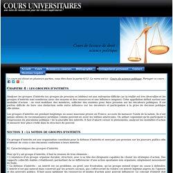 Licence de droit: les groupes d'intérêt