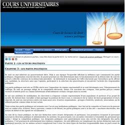 Licence de droit, les partis politiques