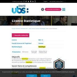 Licence Statistique (Université Bretagne Sud)