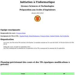 Licence L1 I01 Université de Provence