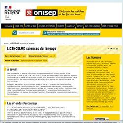 LICENCELMD sciences du langage - Onisep