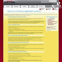 Licences applicables à un livre et ebook