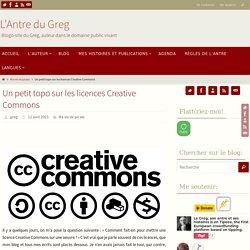 Un petit topo sur les licences Creative Commons