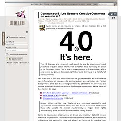 Les licences Creative Commons en version 4.0