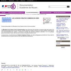 Les licences Creative Commons en vidéo