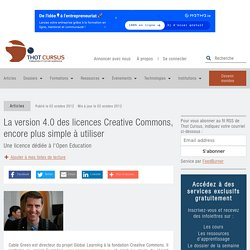 La version 4.0 des licences Creative Commons, encore plus simple à utiliser