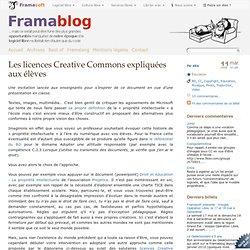 Les licences Creative Commons expliquées aux élèves