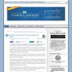 Audit de licences de logiciel : bonnes pratiques de gestion