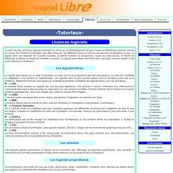 Licences logiciels