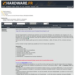 Tout savoir sur les licences Windows (de 95 à 7)