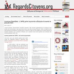 Licences OpenData : L'APIE grille la priorité à ÉtaLab et invente le pseudo-libre