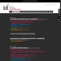 DUT et Licences professionnelles - IUT du Littoral Côte d'Opale
