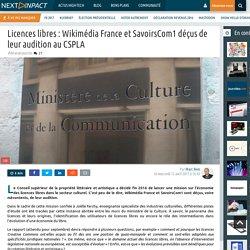 Licences libres : Wikimédia France et SavoirsCom1 déçus de leur audition au CSPLA