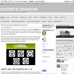 Nueva licencia Creative Commons