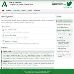 Permisos y licencias - Consejería de Educación