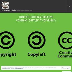Tipos De Licencias (Creative Commons, Copyleft y Copyright) – ARTISTAS CC ESPAÑA