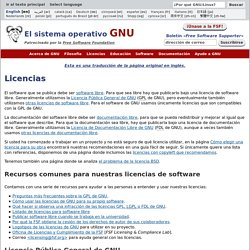 Licencias - Proyecto GNU - Free Software Foundation