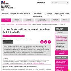 Licenciement économique : la procédure légale de 2 à 9 salariés