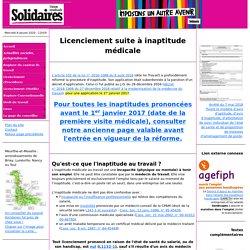 Licenciement pour inaptitude (médicale) - Conseiller du salarié