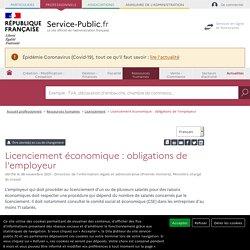 Licenciement économique: les obligations de l'employeur - professionnels