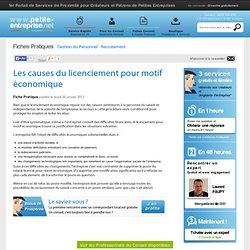 Les causes du licenciement pour motif économique, Gestion du Personnel - Recrutement