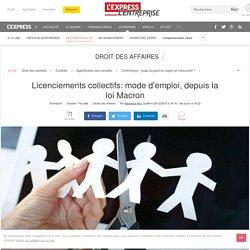 Licenciements collectifs: mode d'emploi, depuis la loi Macron