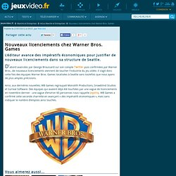 Nouveaux licenciements chez Warner Bros. Games - Jeuxvideo